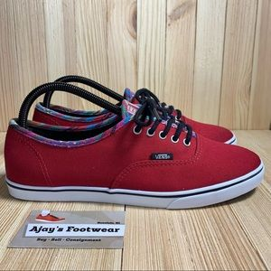 Vans Off The Wall Red Skate Shoes Authentic Canvas